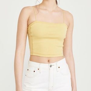 Abercrombie & Fitch Yellow Cropped Tank Top!
